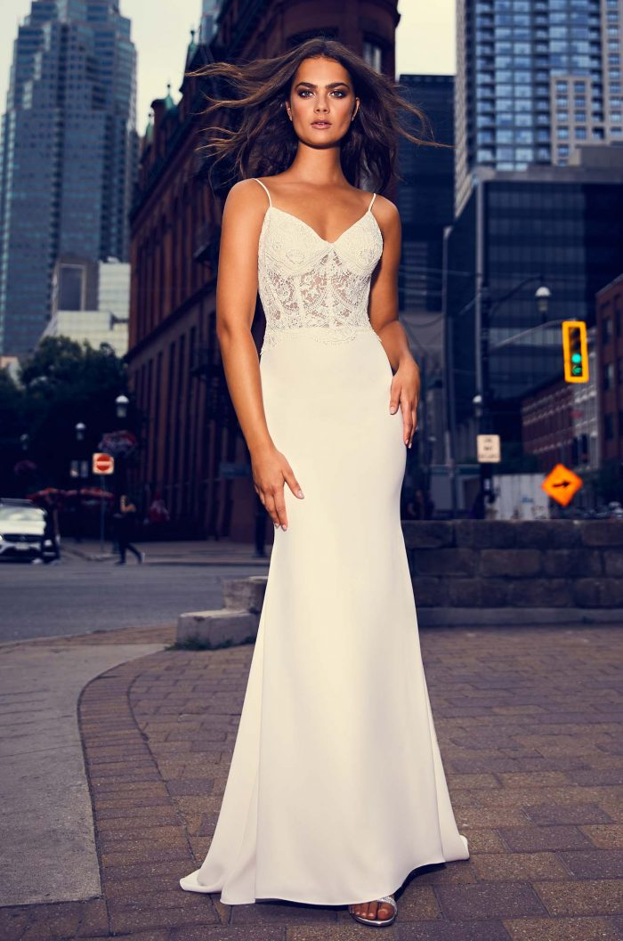 Ornate Guipure Lace Bodice Wedding Dress - Style #4845 | Paloma Blanca