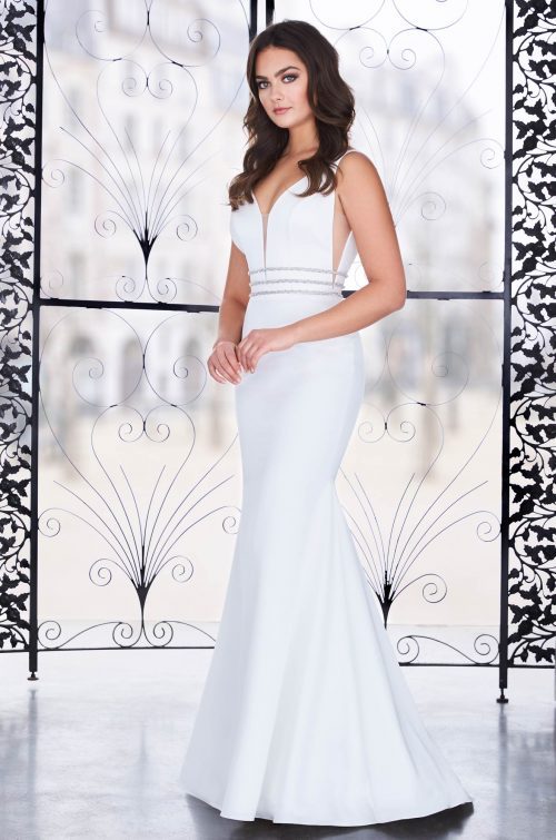 Glamorous Satin Wedding Dress - Style #4851 | Paloma Blanca