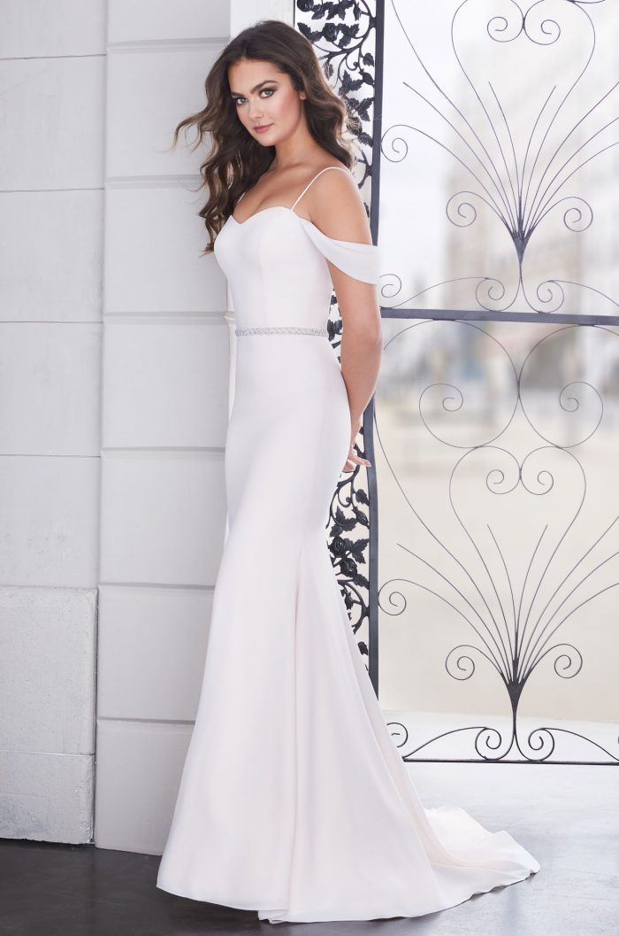 Elegant Draped Sleeve Wedding Dress - Style #4854 | Paloma Blanca