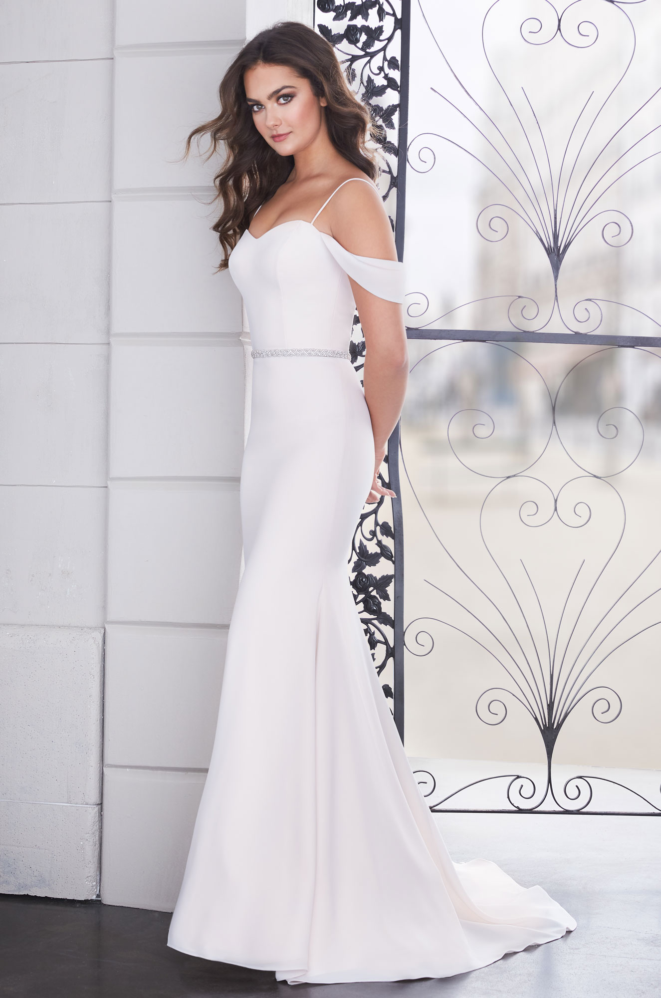 Elegant Draped Sleeve Wedding Dress – Style #4854 | Paloma Blanca
