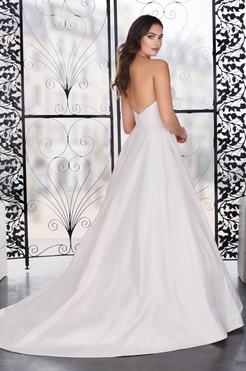 Asymmetrical Silk Wedding Dress - Style #4856 | Paloma Blanca