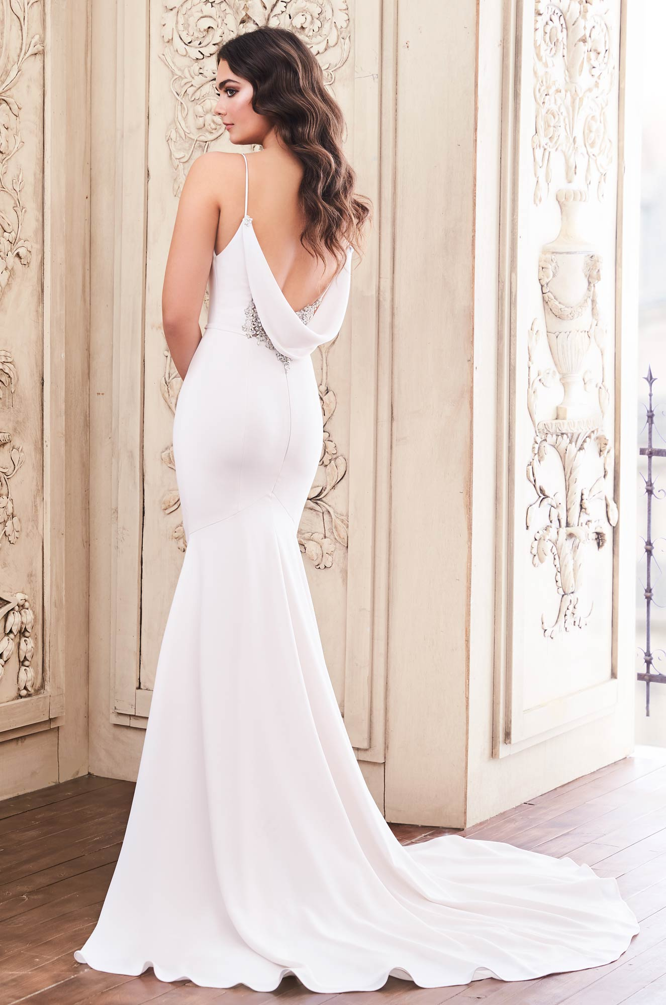 Cowl Back Wedding Dress – Style #4857 | Paloma Blanca