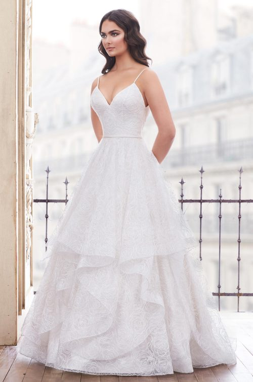 Dazzling Corded Tulle Wedding Dress - Style #4858 | Paloma Blanca