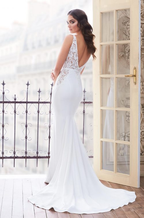 Lace Cut Out Wedding Dress - Style #4859 | Paloma Blanca
