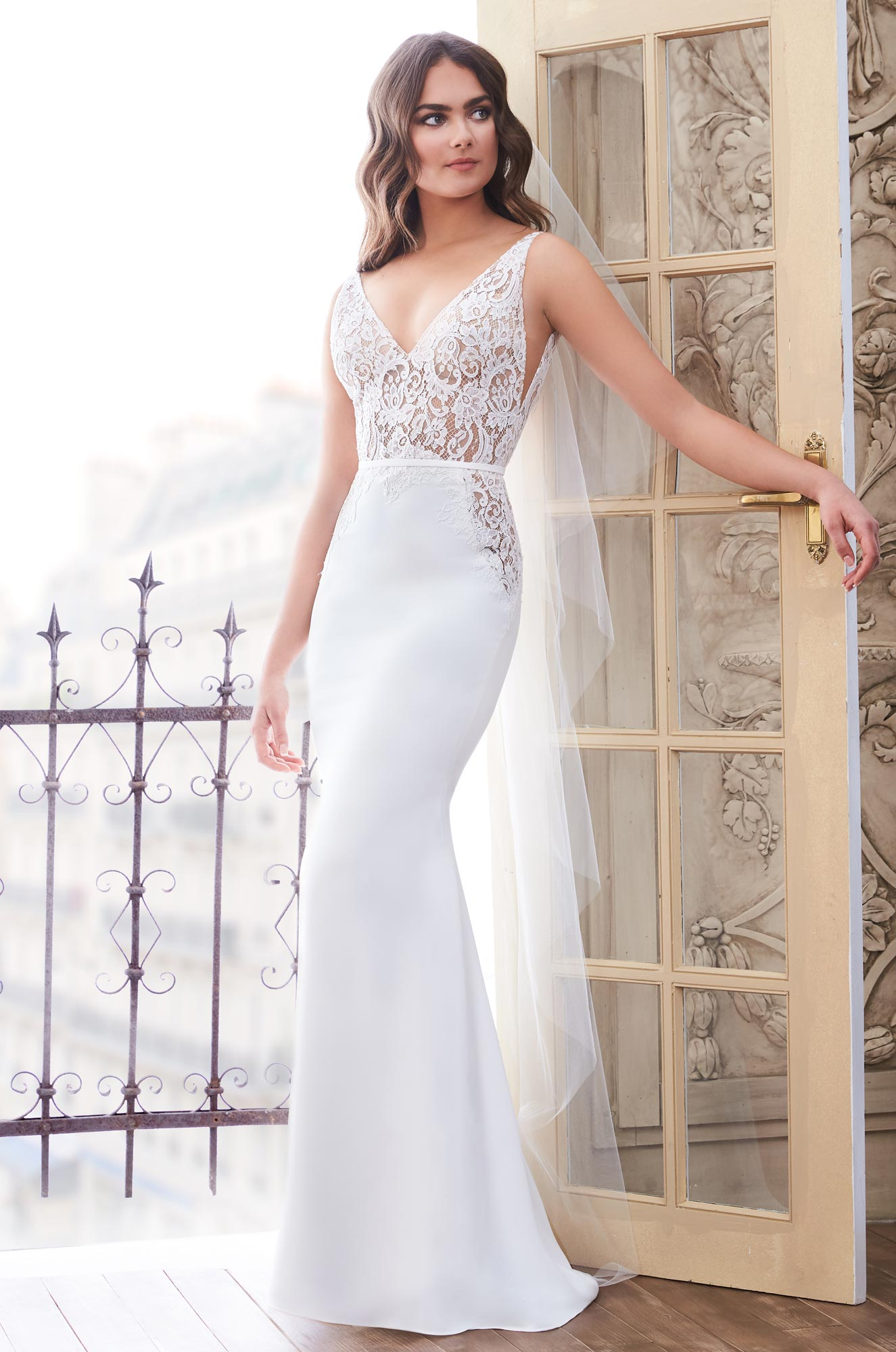 Lace Cut Out Wedding Dress Style 4859 Paloma Blanca