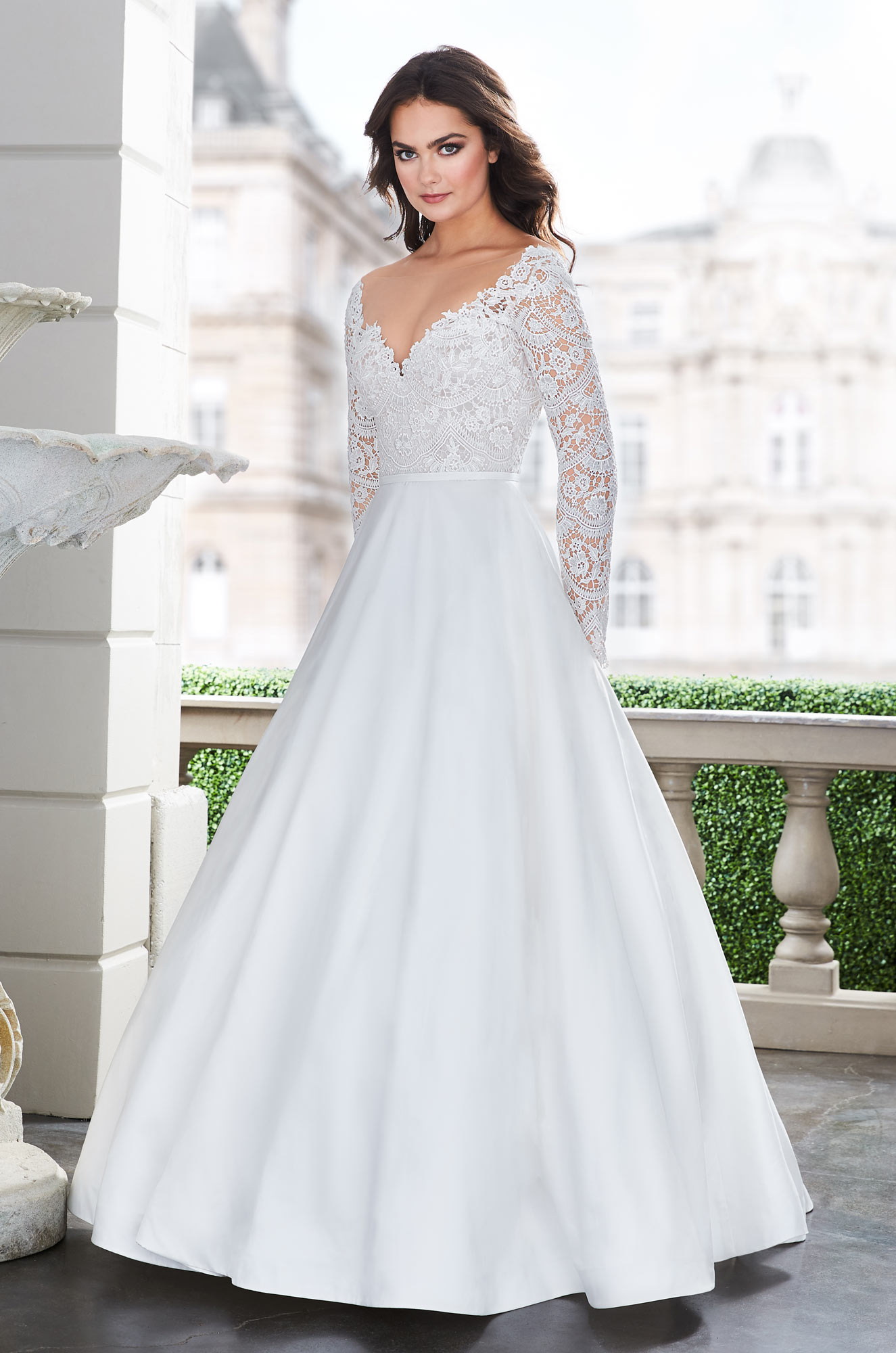 Lace Sleeve Wedding Dress – Style #4864 | Paloma Blanca