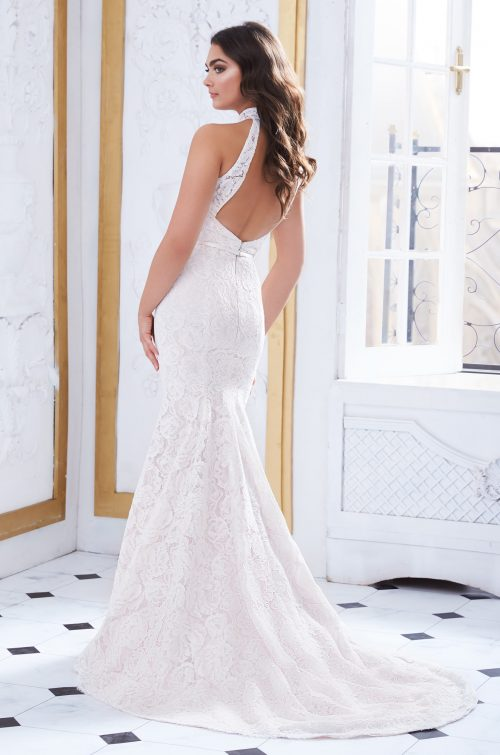 Collared Neckline Wedding Dress - Style #4868 | Paloma Blanca