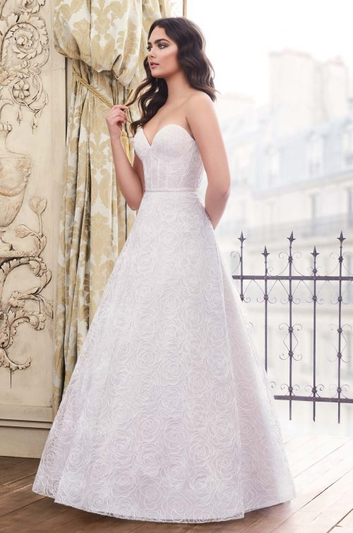 Strapless Corded Tulle Wedding Dress - Style #4871 | Paloma Blanca