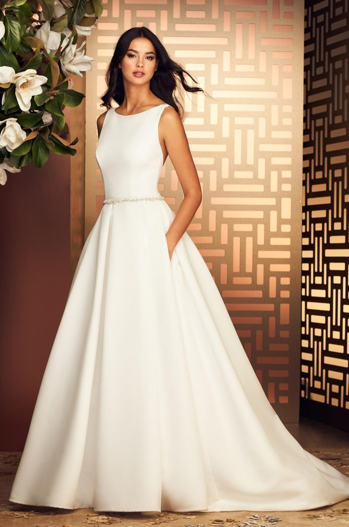 Flattering Satin Faille Wedding Dress - Style #4886 | Paloma Blanca