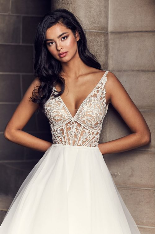Exquisite Lace Detail Wedding Dress - Style #4903 | Paloma Blanca
