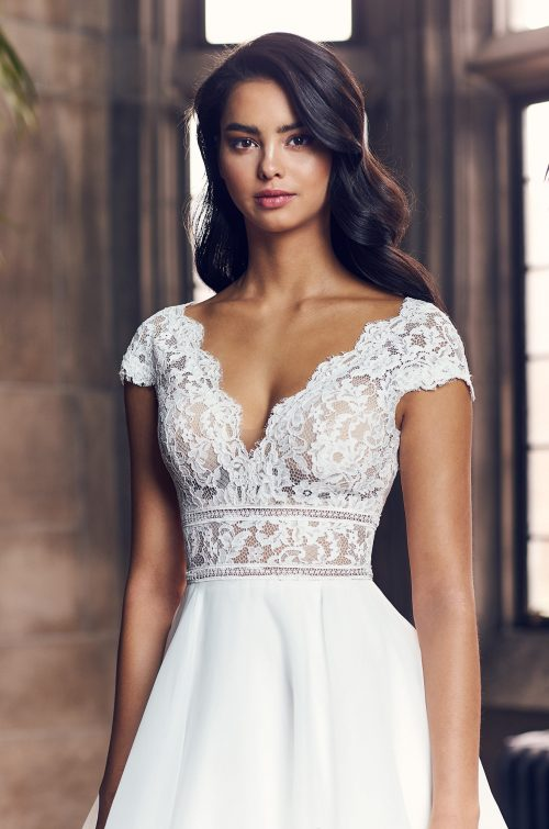 Cute Cap Sleeve Wedding Dress - Style #4904 | Paloma Blanca