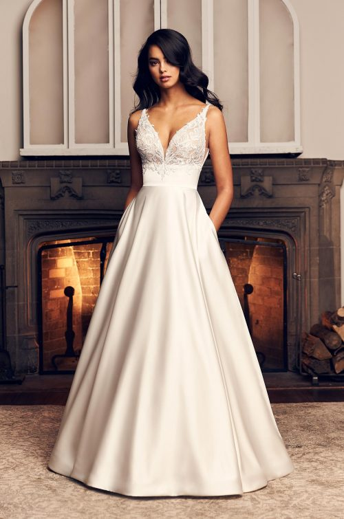 Full Satin Skirt Wedding Dress - Style #4906 | Paloma Blanca