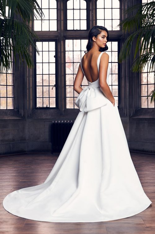 Posh Satin Faille Wedding Dress - Style #4907 | Paloma Blanca