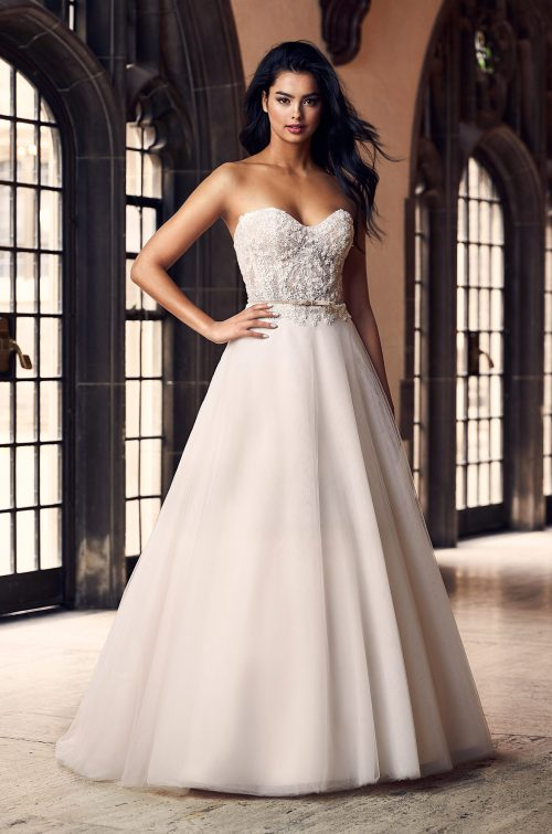 Blush Ball Gown Wedding Dress - Style #4909 | Paloma Blanca