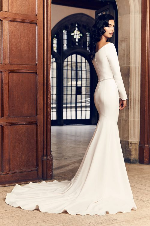 Romantic Long Sleeve Wedding Dress - Style #4910 | Paloma Blanca