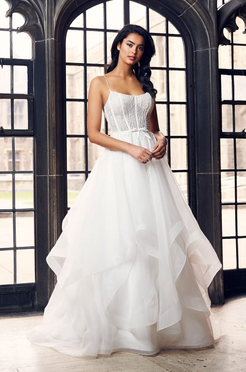 Cascading Lace Wedding Dress - Style #4911 | Paloma Blanca