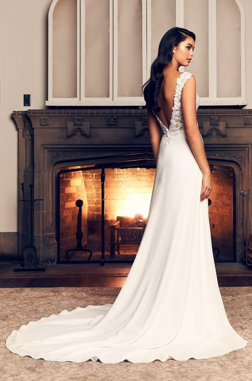 Elegant Side Slit Wedding Dress - Style #4912 | Paloma Blanca