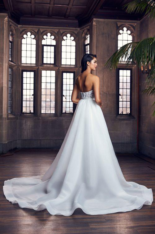 Versatile Strapless Wedding Pantsuit - Style #4913 | Paloma Blanca