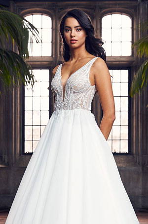 Sequin Ball Gown Wedding Dress - Style #4902 | Paloma Blanca