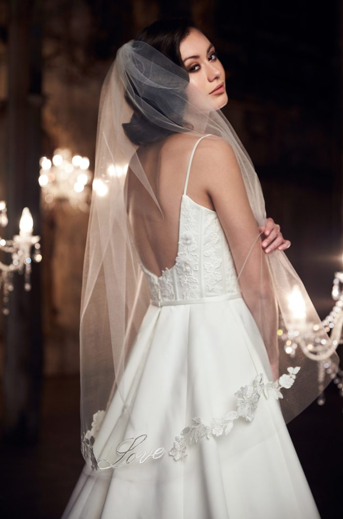 Romantic Embroidered Veil - Style #V490F | Paloma Blanca