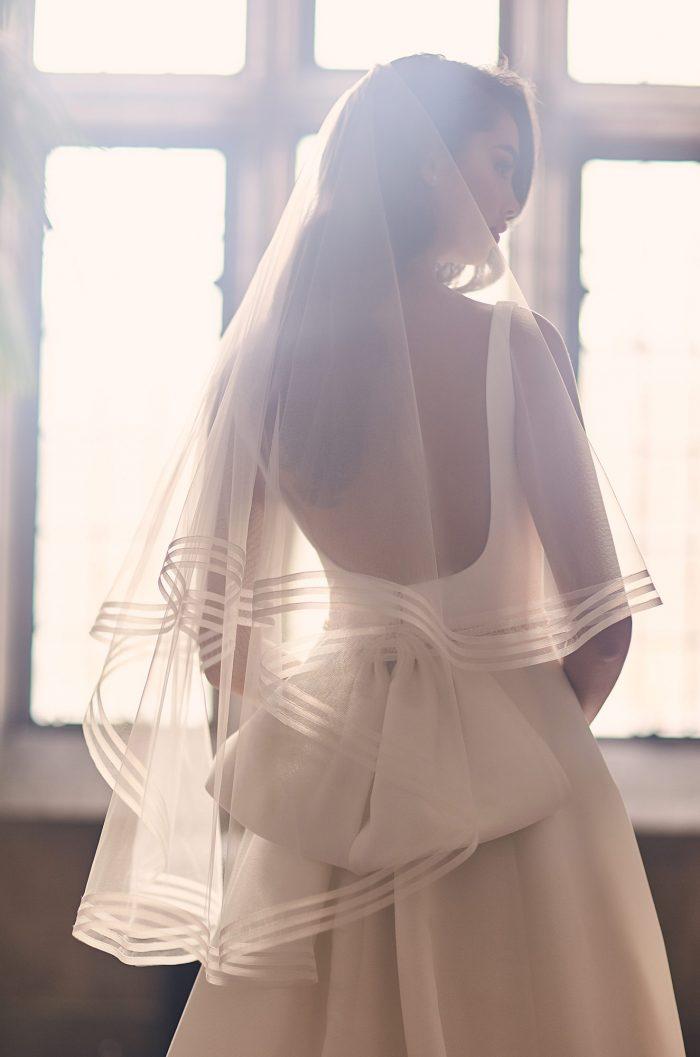Triple Horsehair Edge Veil - Style #V492F | Paloma Blanca