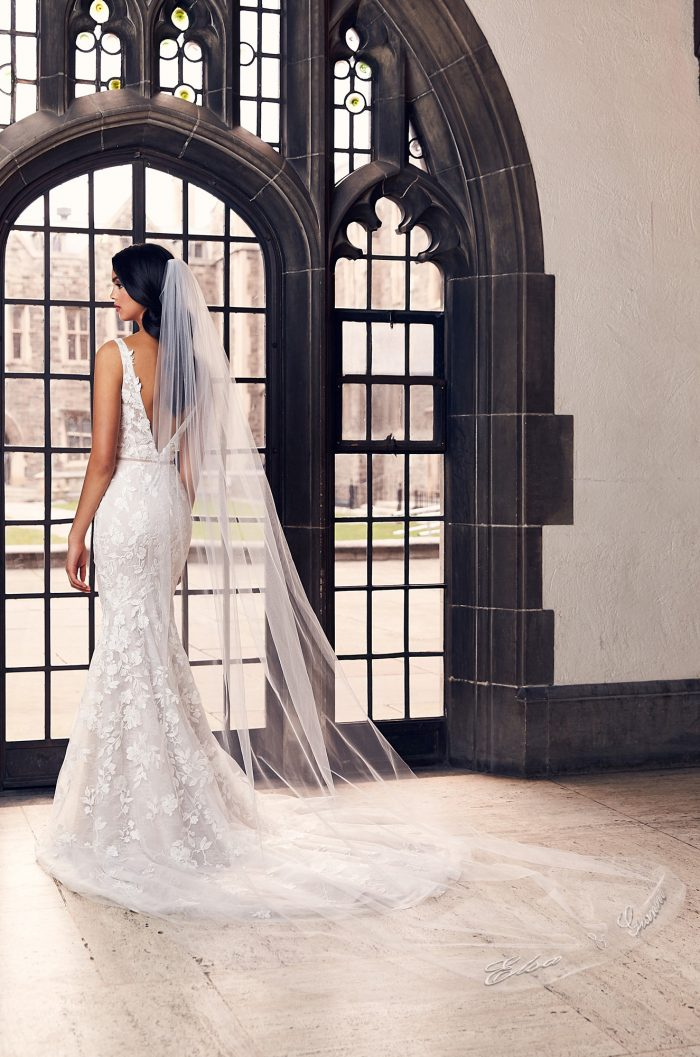 Personalized Embroidery Veil - Style #V494C | Paloma Blanca