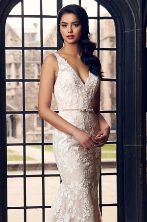 Fitted Floral Wedding Dress - Style #4900 | Paloma Blanca