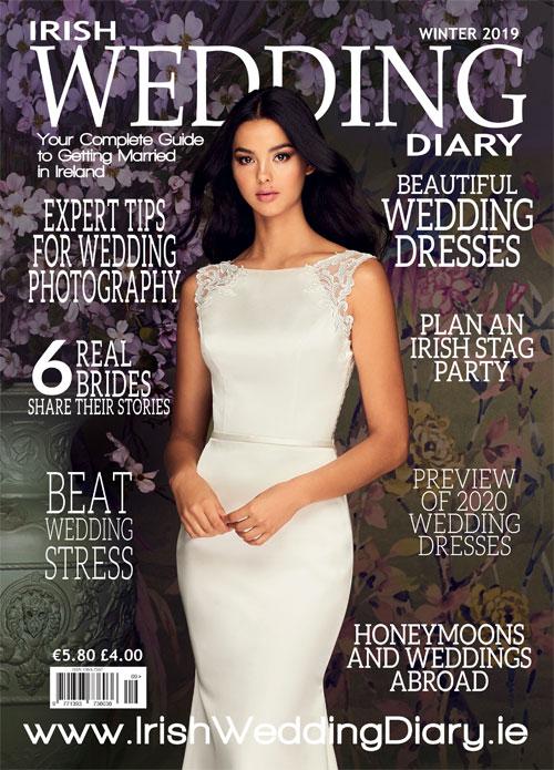 Irish Wedding Diary Cover Winter 2019 Paloma Blanca Style 4882
