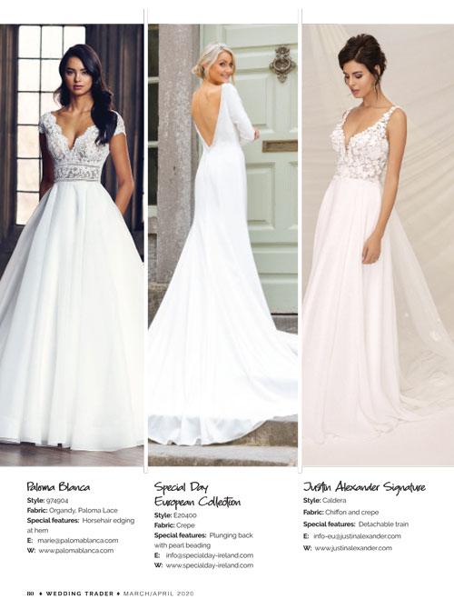 Wedding Trader Magazine June July 2020 Paloma Blanca Style 4904