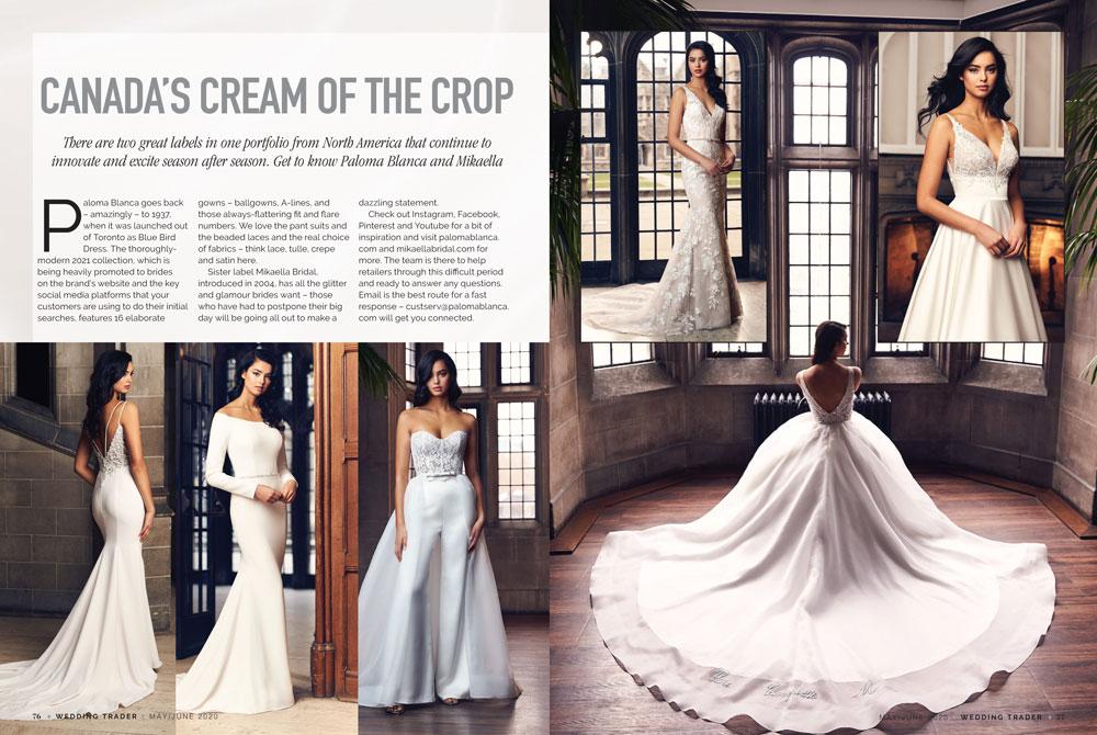 Wedding Trader Magazine May June 2020 Paloma Blanca Fall 2020