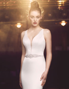 Paloma Blanca What Do You Wear Under A Wedding Dress Plunging Neckline Style 4714