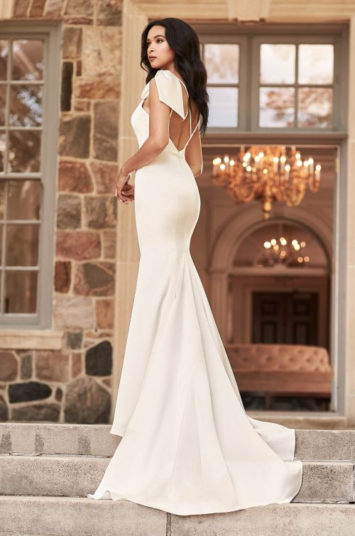 Sophisticated One Shoulder Wedding Dress - Style #4927   Paloma Blanca