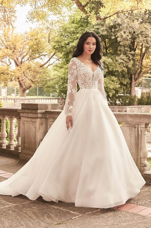 Billowing Illusion Sleeve Wedding Dress - Style #4932 | Paloma Blanca