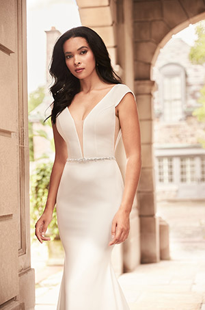 Stylish Cap Sleeve Wedding Dress - Style #4929 | Paloma Blanca