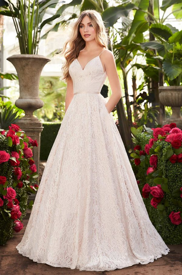 Lace Wedding Dress With Pockets - Style #2251 | Mikaella Bridal