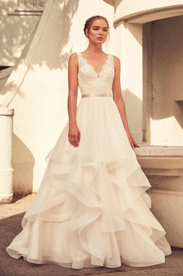 Lightly Beaded Bodice Wedding Dress - Style #4798   Paloma Blanca