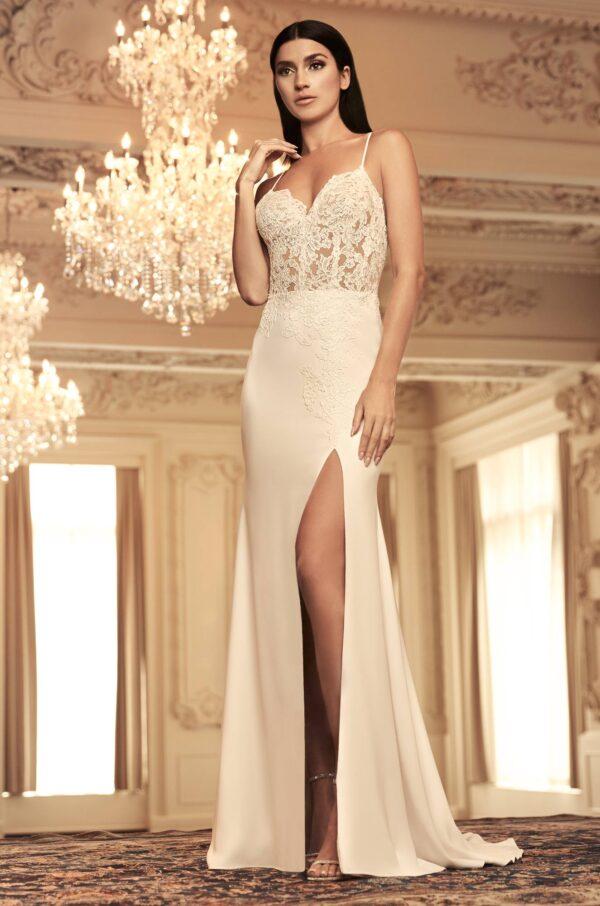 Skirt Slit Wedding Dress - Style #4800 | Paloma Blanca