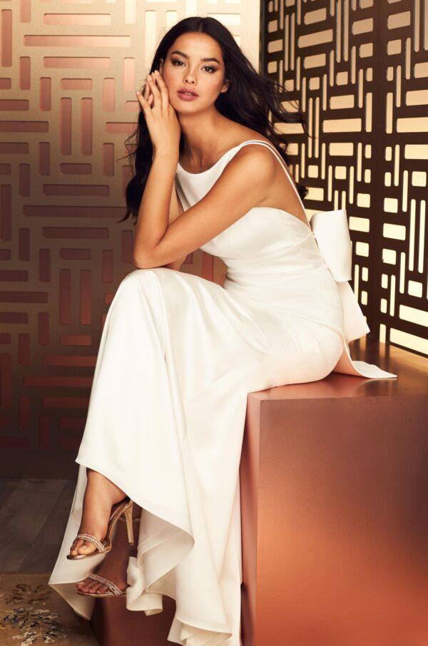 Refined Satin Wedding Dress - Style #4894 | Paloma Blanca