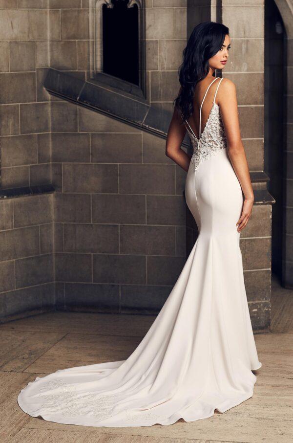 Alluring Crêpe Wedding Dress - Style #4908 | Paloma Blanca