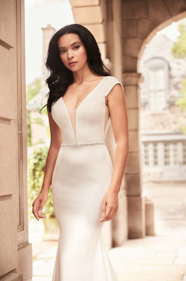Stylish Cap Sleeve Wedding Dress - Style #4929 | Paloma Blanca
