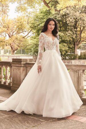 Billowing Illusion Sleeve Wedding Dress - Style #4932 | Paloma Blanca