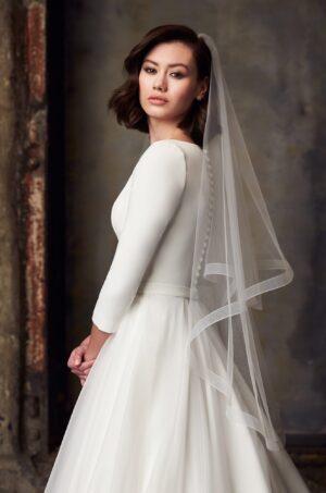 Versatile Tulle Veil - Style #V491F | Paloma Blanca