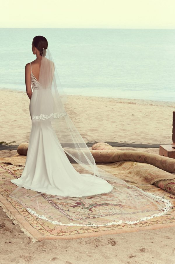 Two Tiered Lace Veil - Style #VM482C   Mikaella Bridal