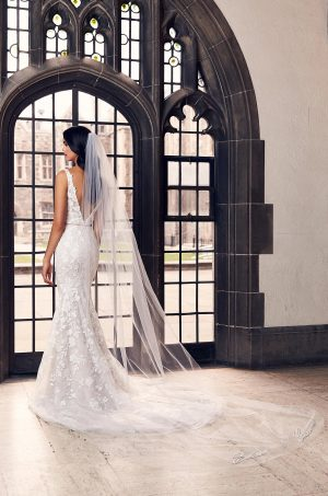 Personalized Embroidery Veil - Style #VM494C | Mikaella Bridal