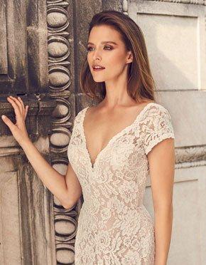 Mikaella What Do You Wear Under A Wedding Dress Low Neckline Style 2233