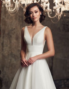 Mikaella What Do You Wear Under A Wedding Dress Low Neckline Style 2310