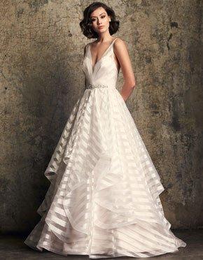 Mikaella What Do You Wear Under A Wedding Dress Plunging Neckline Style 2315