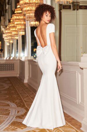 Puff Sleeve Wedding Dress - Style #2350 | Mikaella Bridal