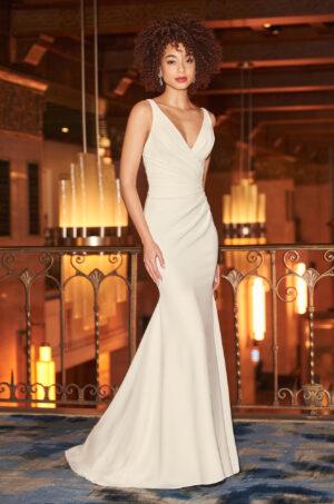 Stunning Crepe Wedding Dress - Style #2354 | Mikaella Bridal