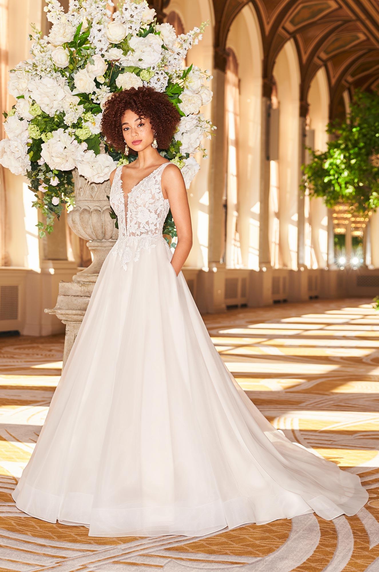 Dreamy Blush Wedding Dress - Style #2356 | Mikaella Bridal